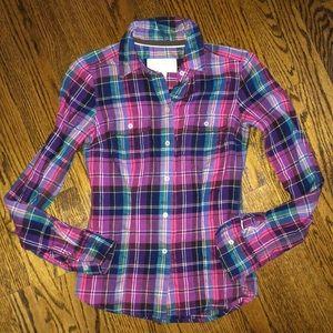 Women's American Eagle plaid shirt. Size 0